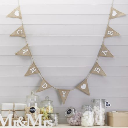 Wedding Candy Bar Bunting